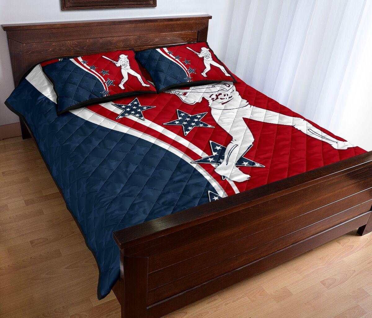American softball quilt bedding set2