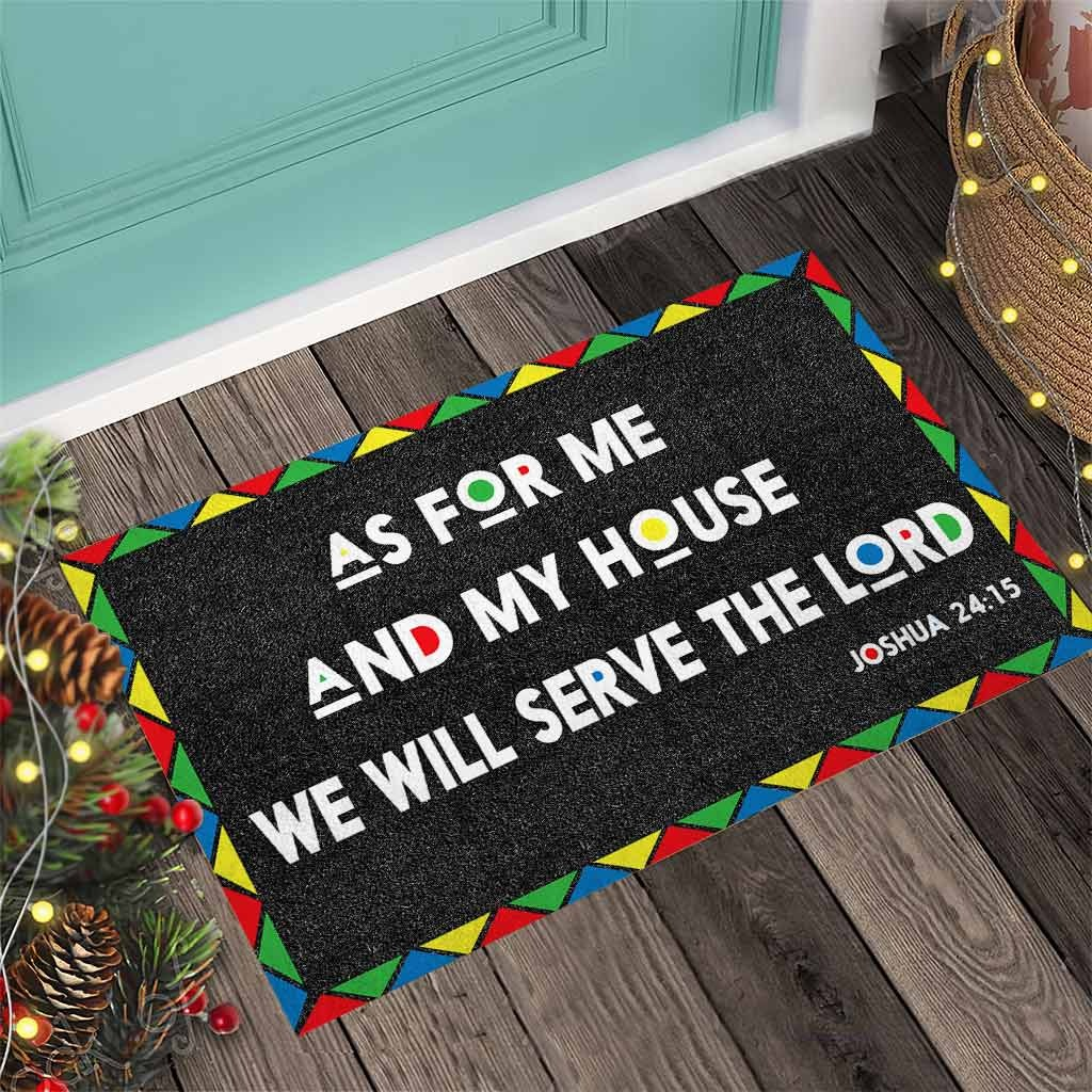 AS for me and my house we will serve the lord doormat4 1