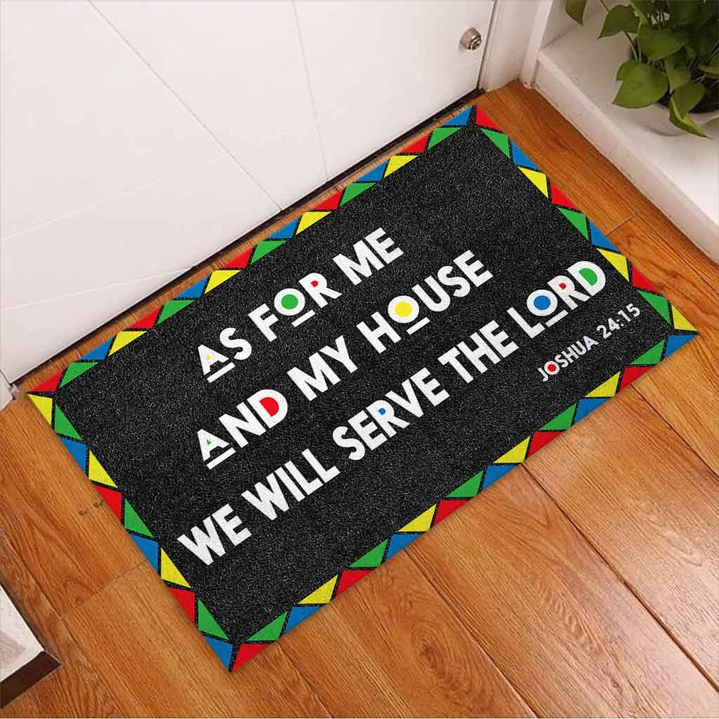 AS for me and my house we will serve the lord doormat3 1