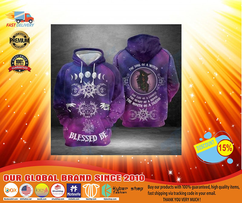 Blessed be the soul of a witch 3D hoodie3