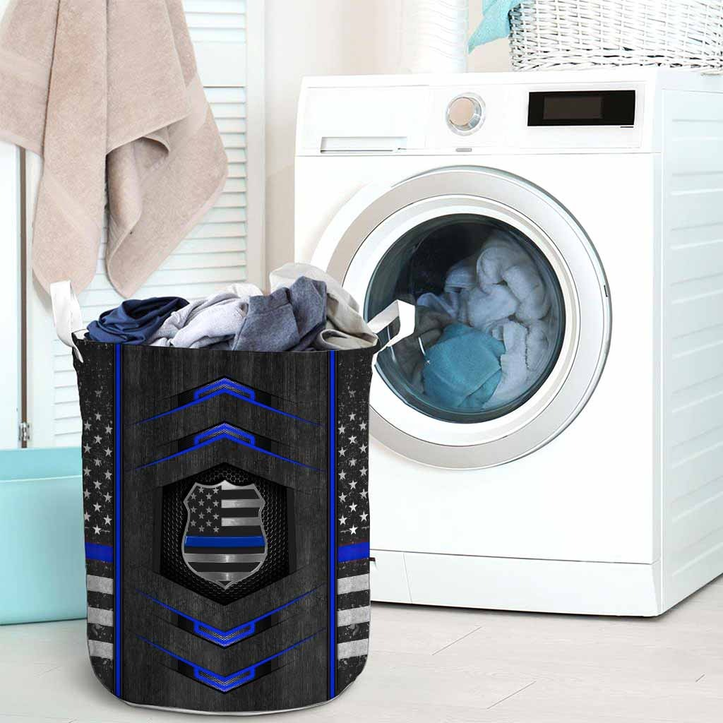 Blue line police basket laundry3
