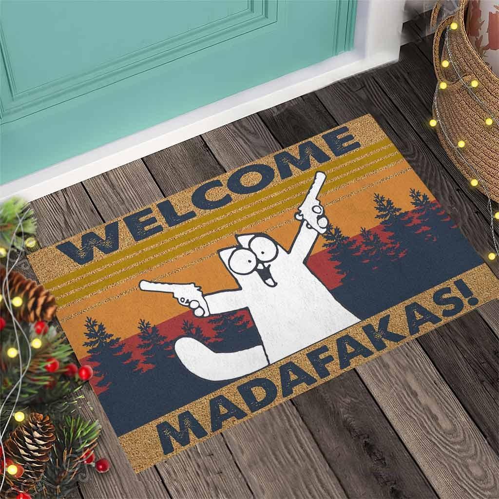 Cat Welcome madafakas doormat4