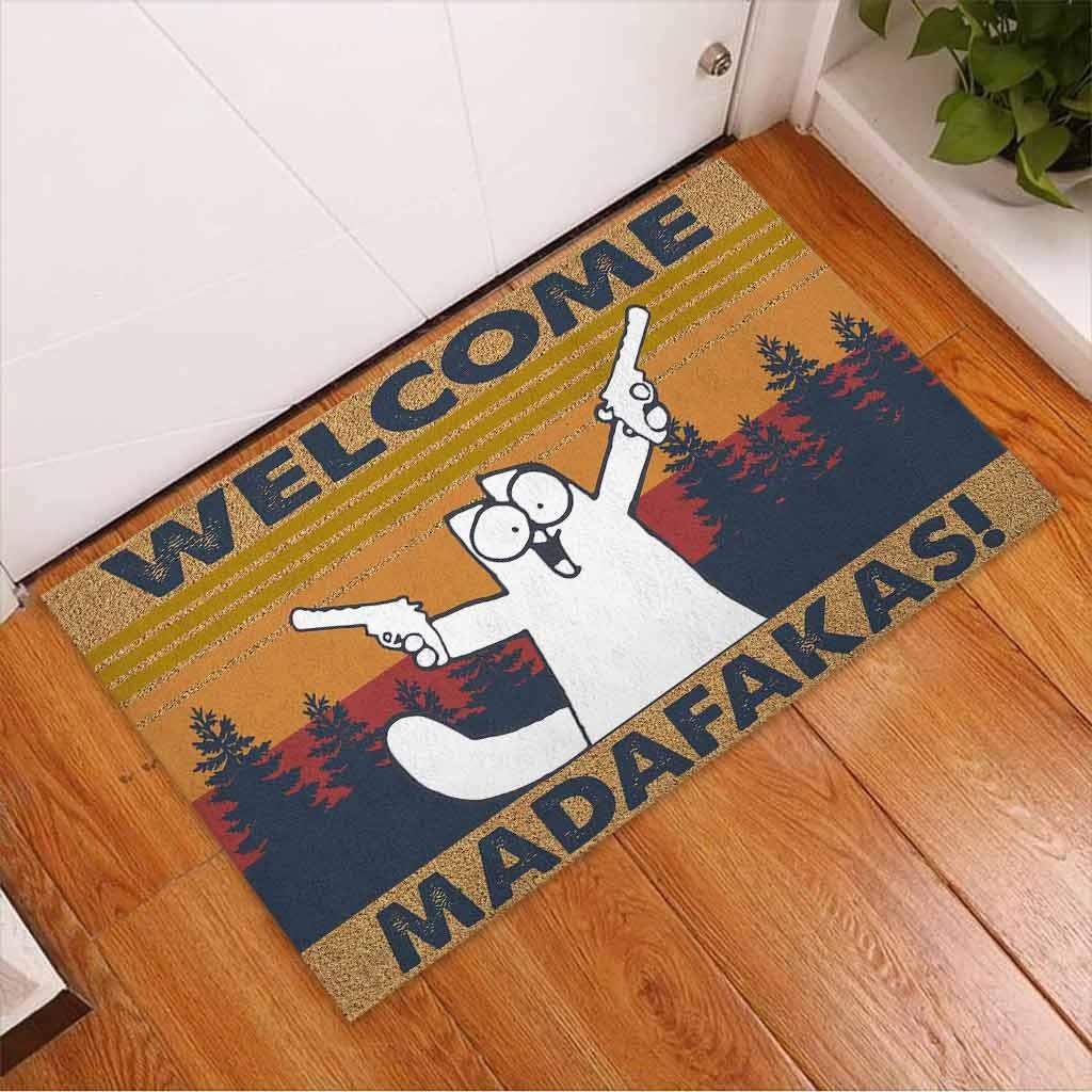 Cat Welcome madafakas doormat2