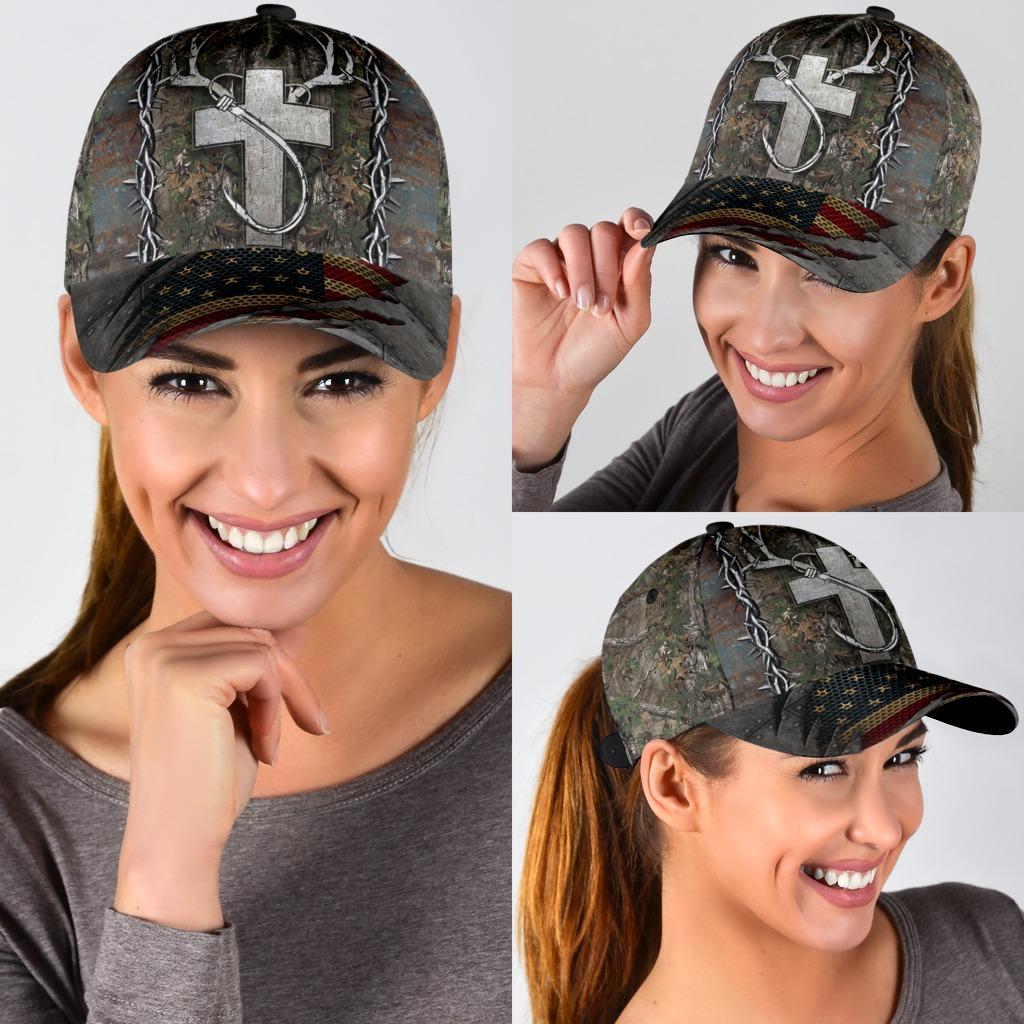 Christian hunting fishing lover cap3