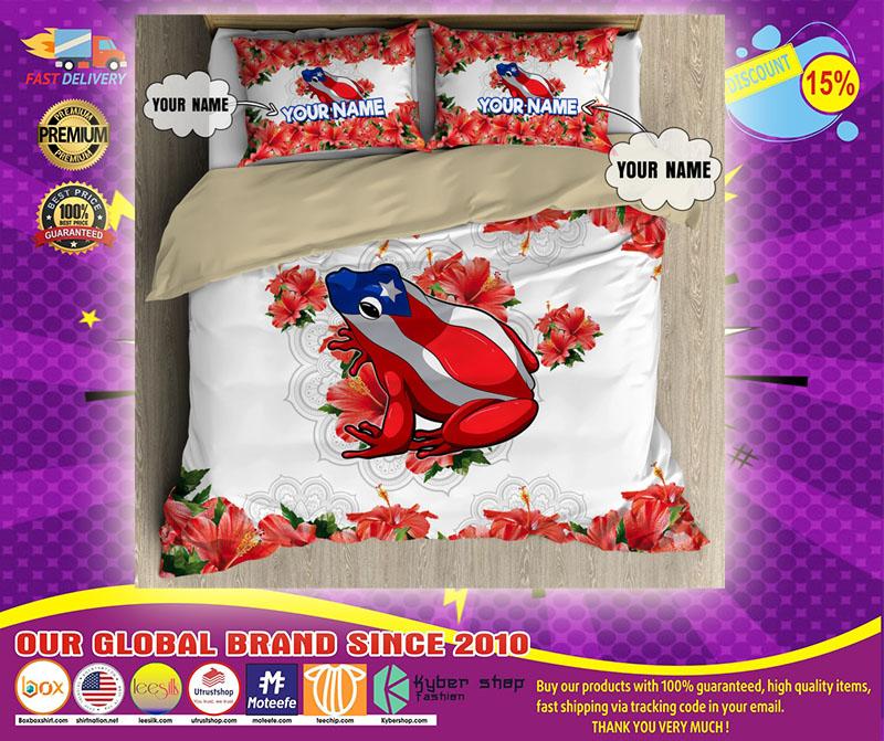 Coqui puerto rico custom name bedding set5