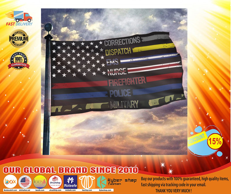 Corrections dispatch ems nurse firefighter police military flag3