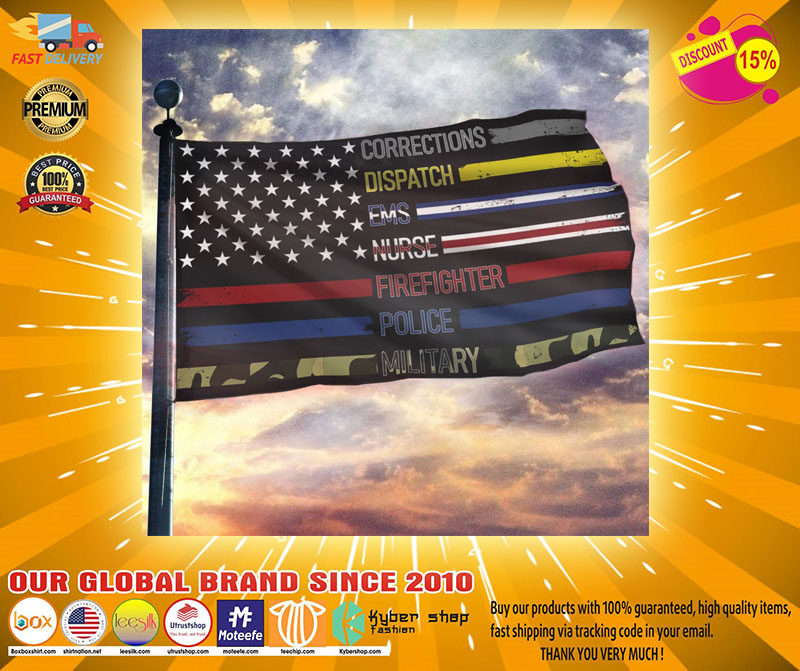 Corrections dispatch ems nurse firefighter police military flag2