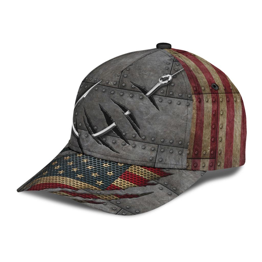 Crack sishing American flag classic cap2