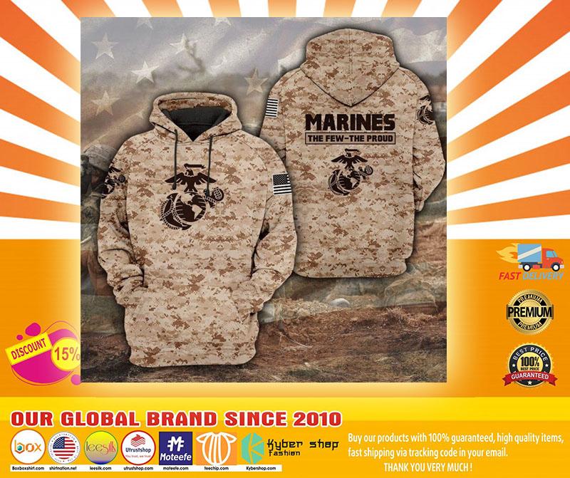 Desert Marpat the few the proud 3D hoodie4