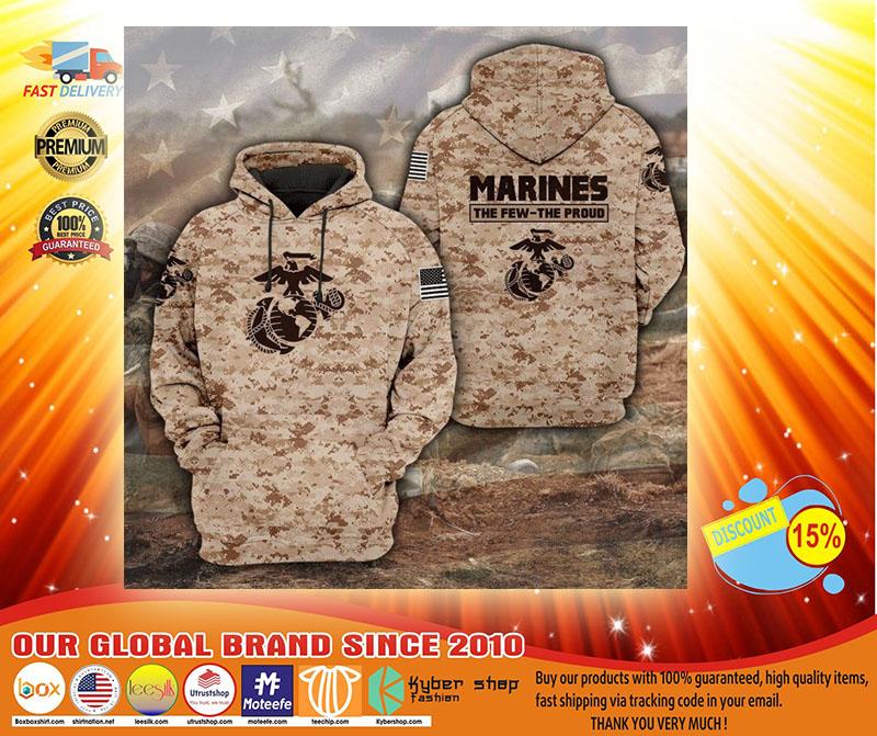 Desert Marpat the few the proud 3D hoodie3