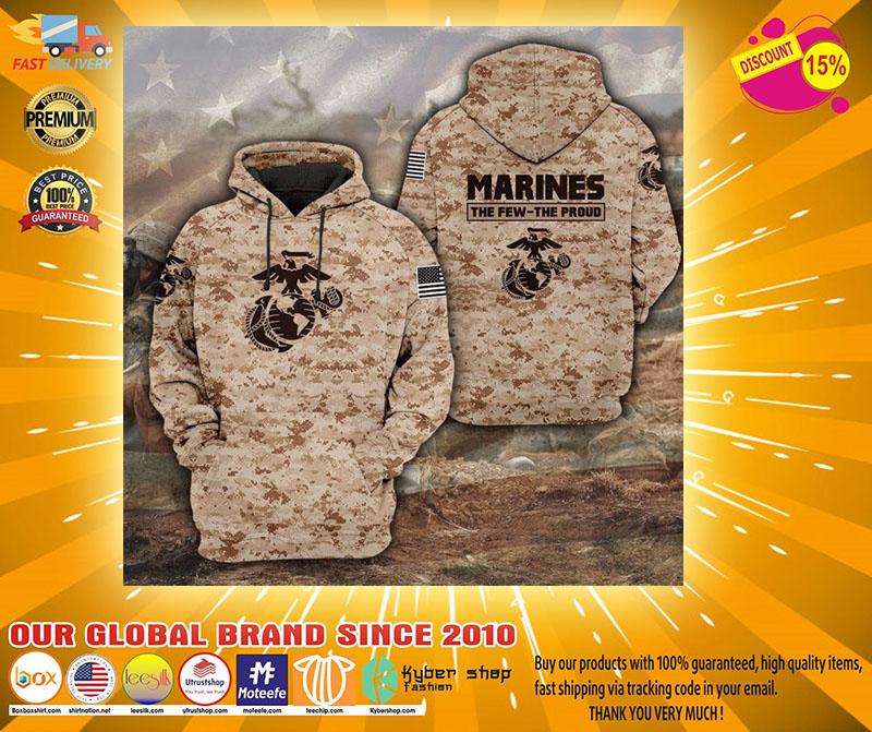 Desert Marpat the few the proud 3D hoodie2