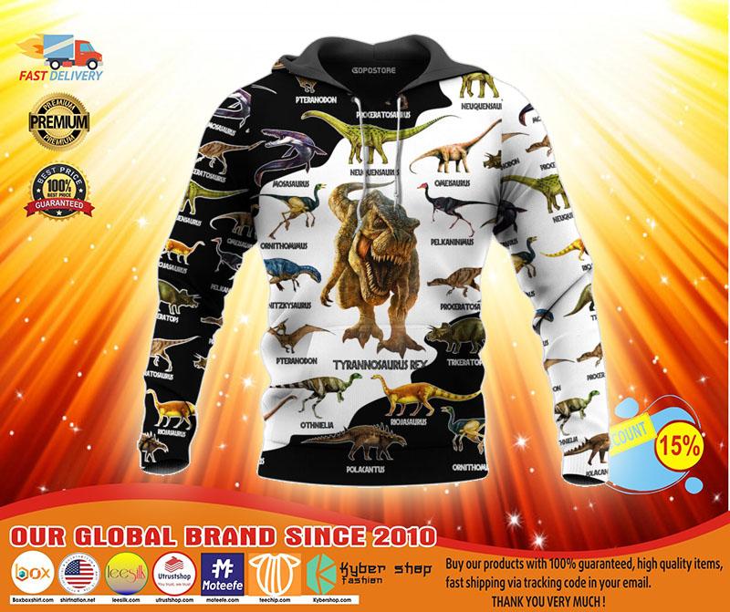 Dinosaur art T rex jurassic world 3d hoodie3