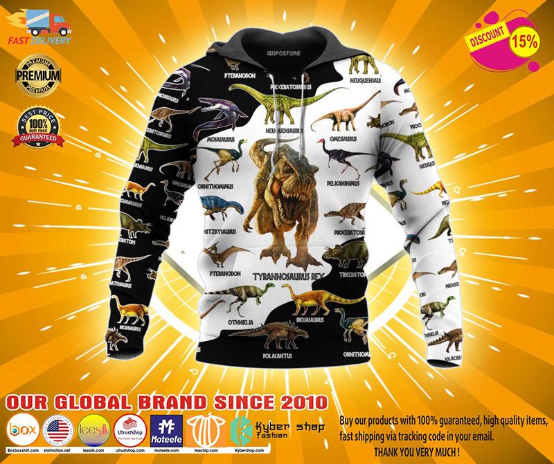 Dinosaur art T rex jurassic world 3d hoodie2