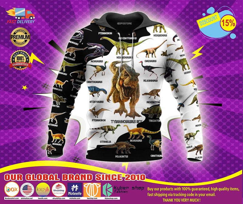 Dinosaur art T rex jurassic world 3d hoodie1