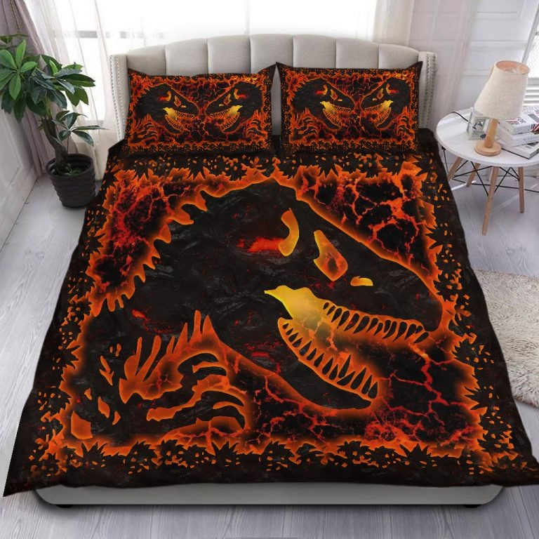 Dinosaur lava bedding set2