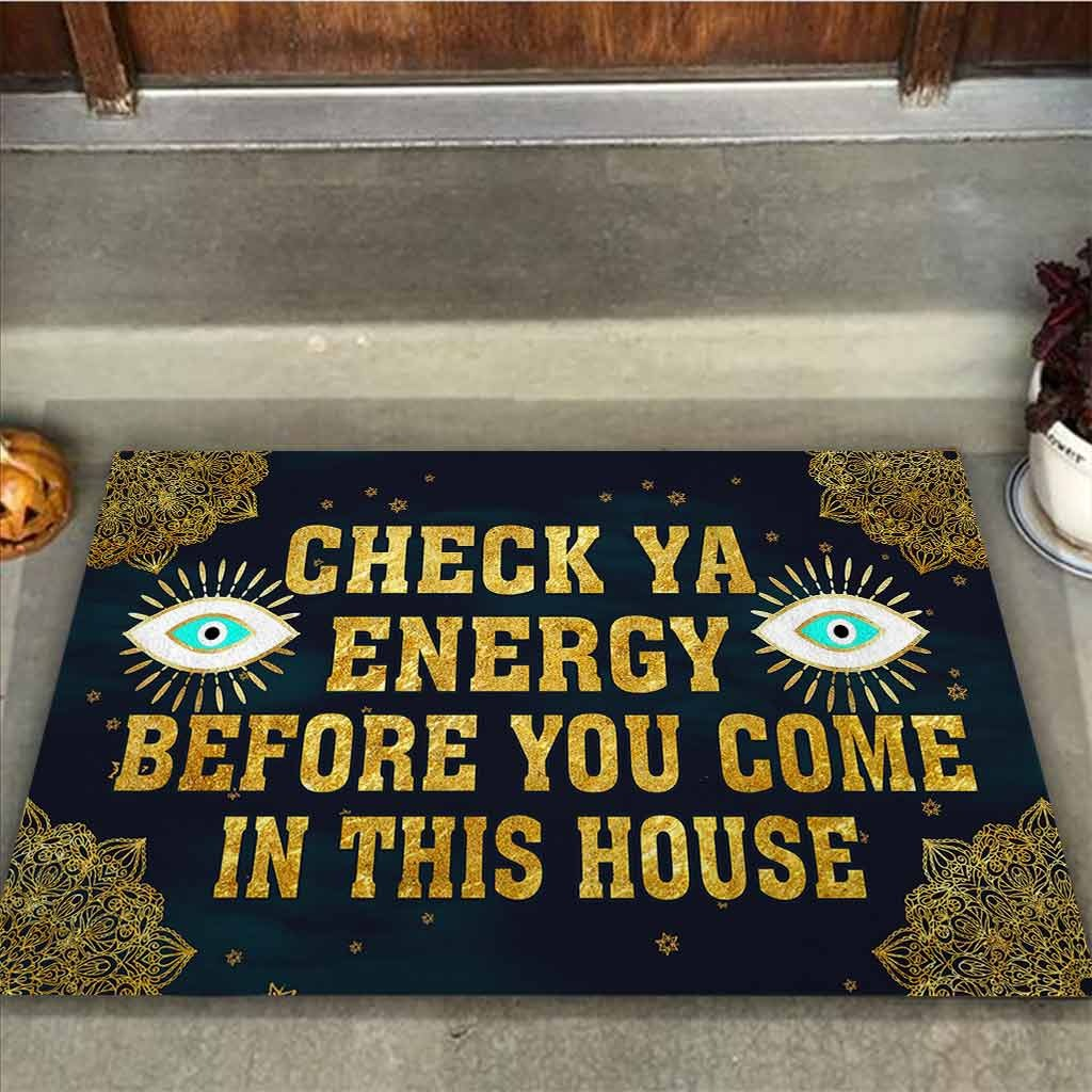 Evil eyes Check ya energy before you come in this house doormat4 1