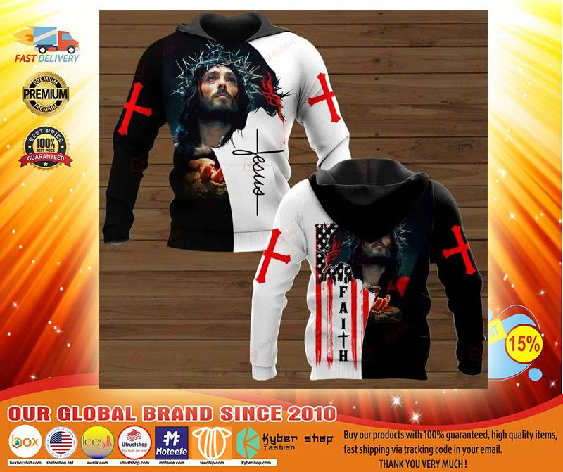 Faith Jesus god 3D hoodie3