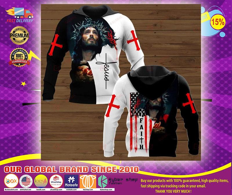 Faith Jesus god 3D hoodie1