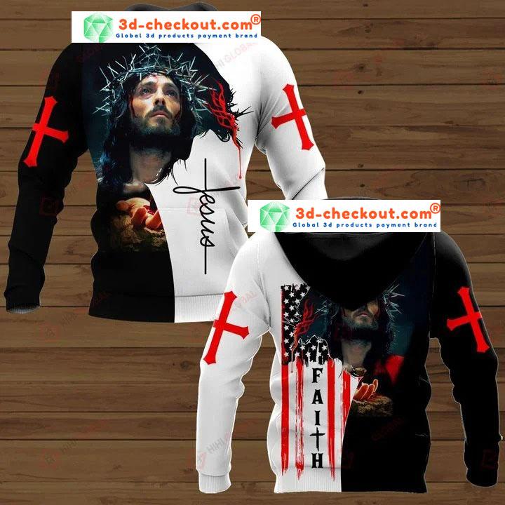 Faith Jesus god 3D hoodie