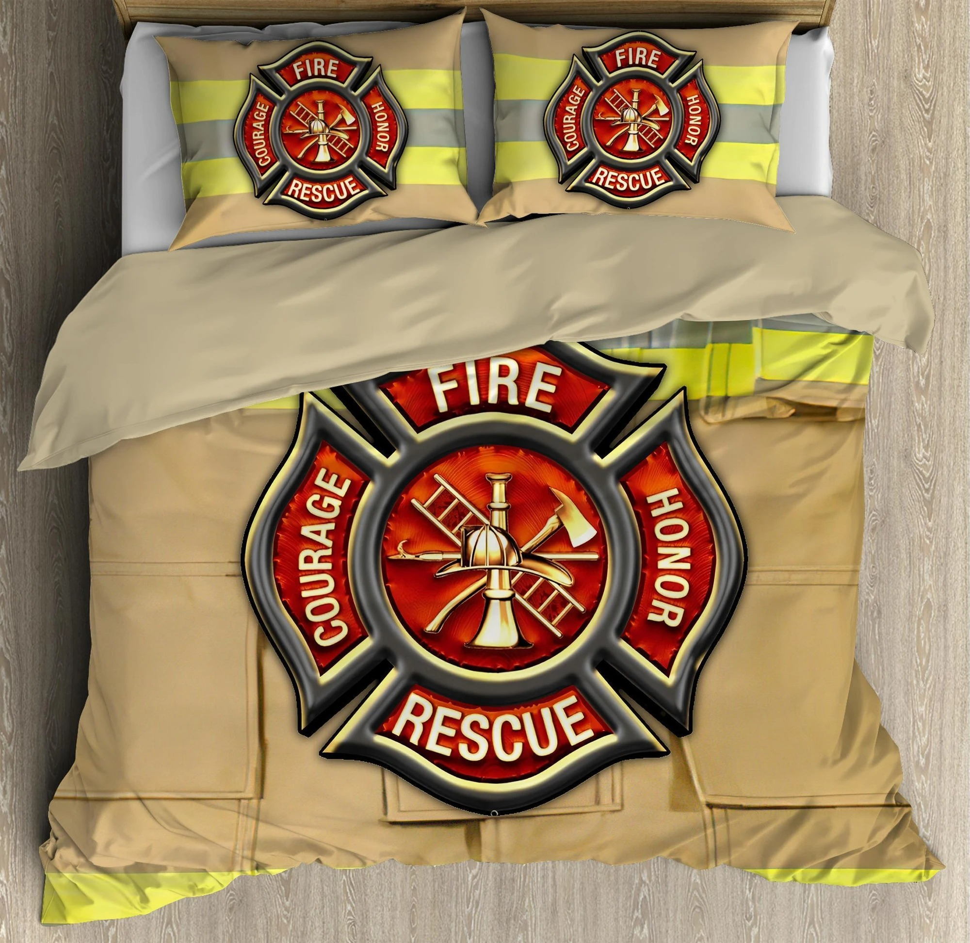 Firefighter Fire Honor Rescue Courage bedding set3