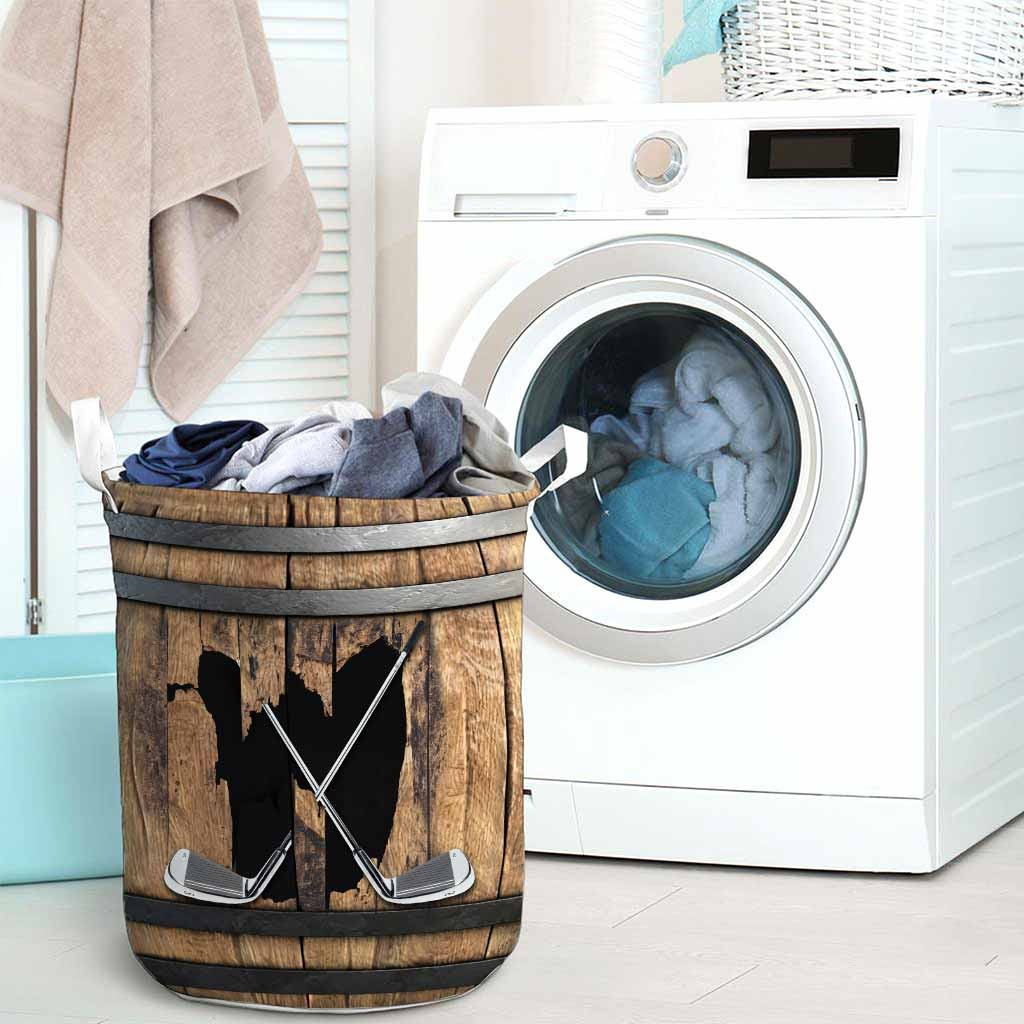 golf faux wood print basket laundry3