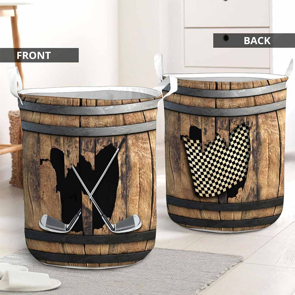 golf faux wood print basket laundry2