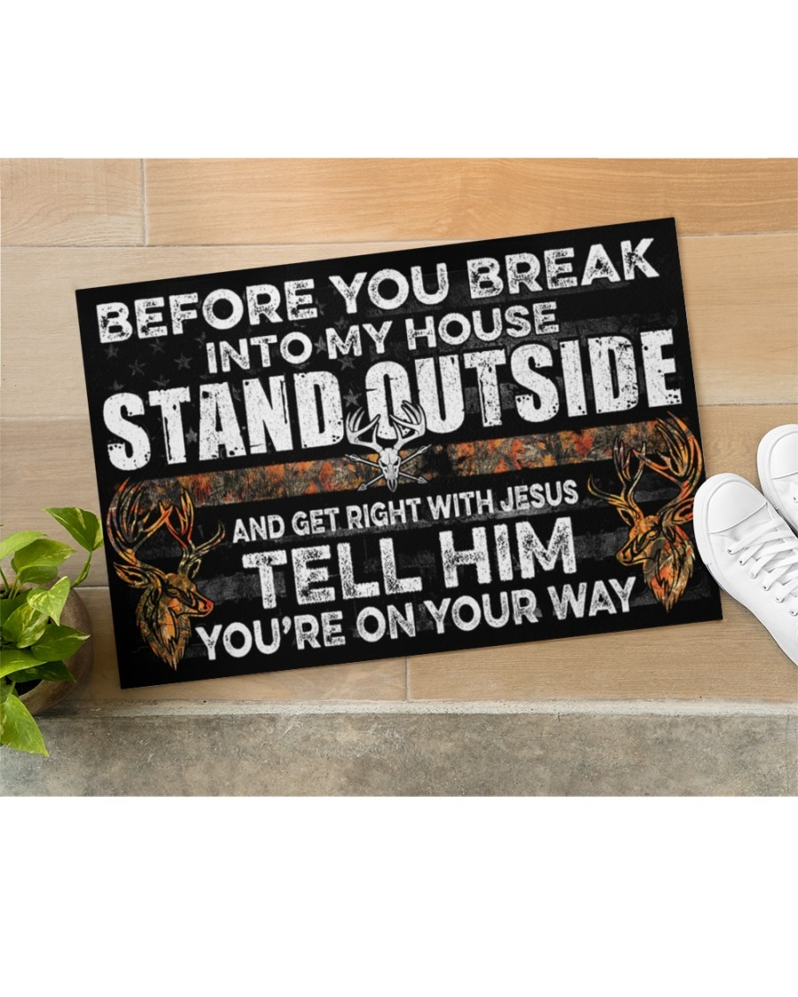 Hunting before you break into my house stand outside doormat2