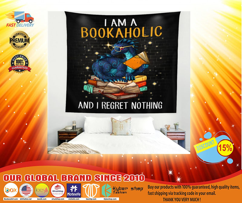 I am a bookaholic and I regret nothing tapestry3