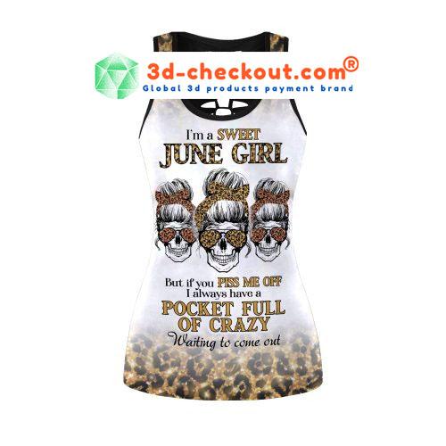 Im a sweet june girl skull tank top and legging2