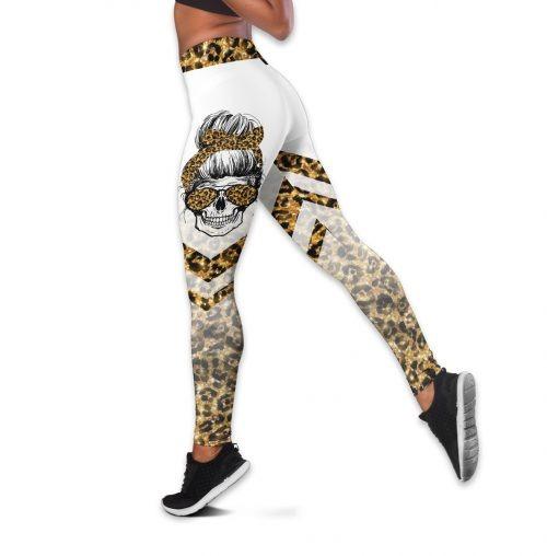 Im a sweet june girl skull tank top and legging3