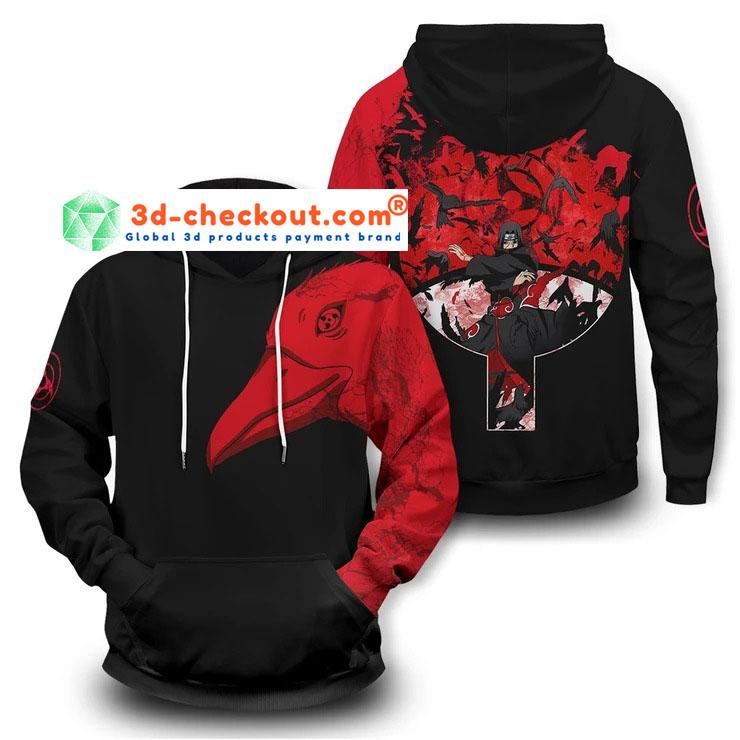 Itachi summoning crow 3D hoodie