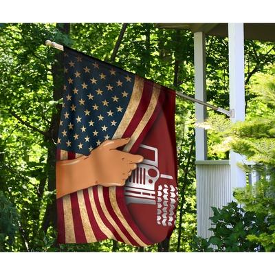 Jeep hand American flag4