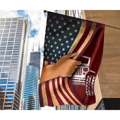 Jeep hand American flag2