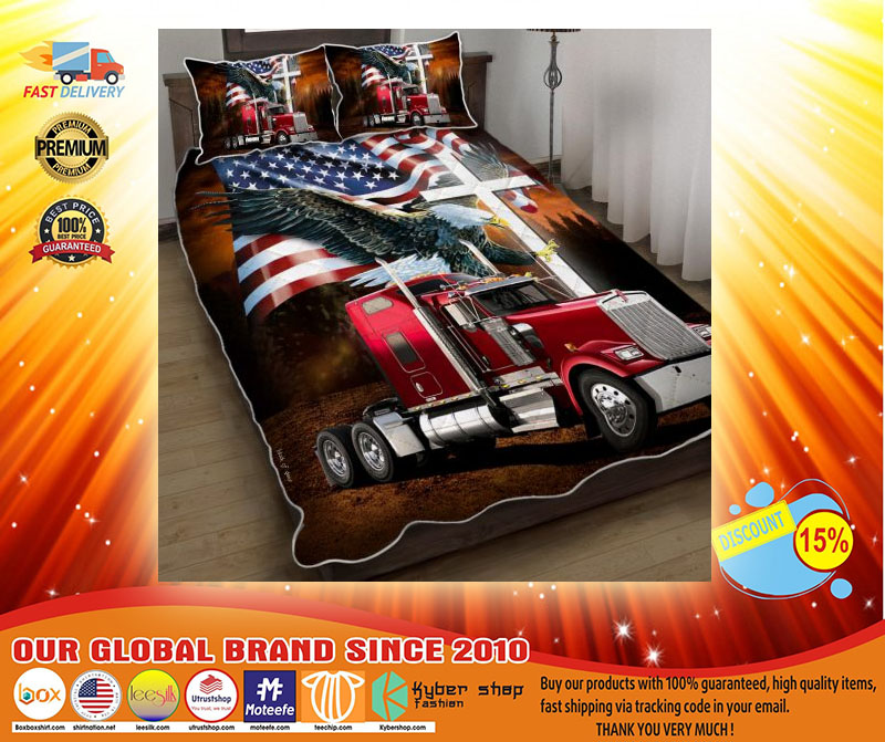 Jesus American eagle trucker quilt bedding set4