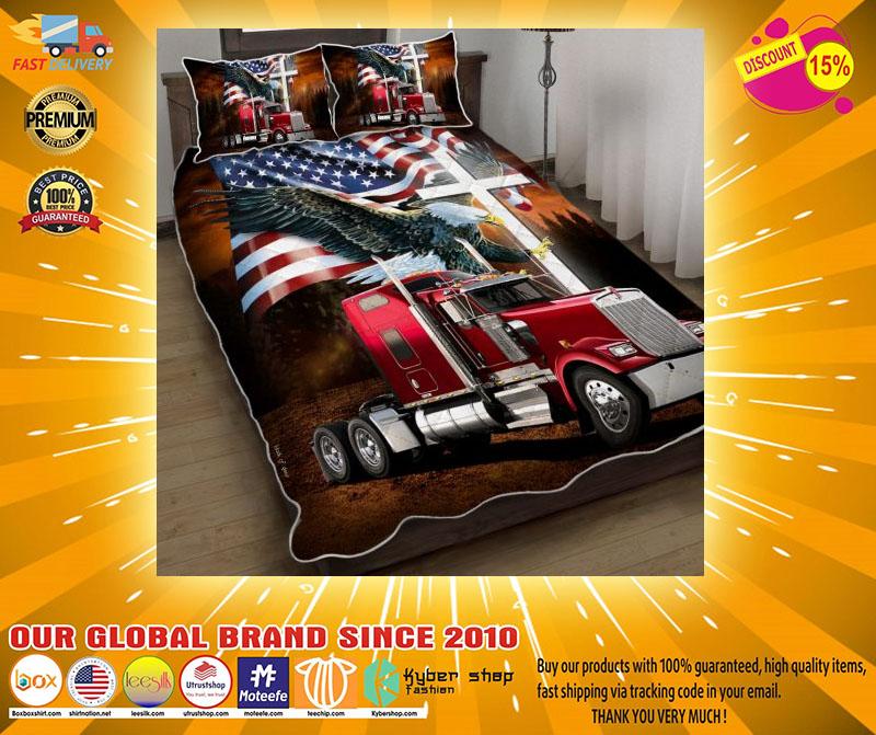 Jesus American eagle trucker quilt bedding set3