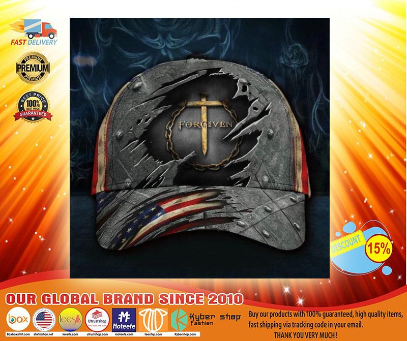 Jesus forgiven American flag classic cap3