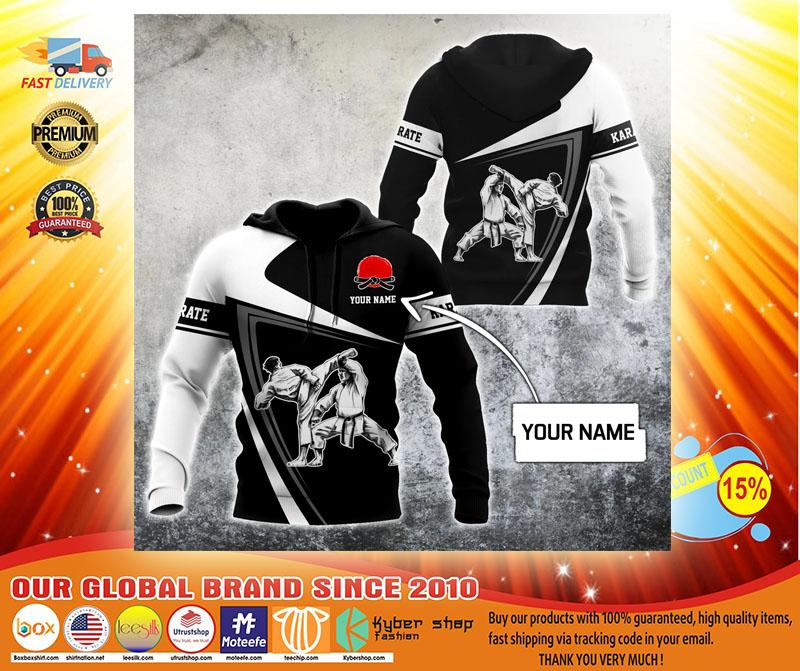 Karate custom name 3D hoodie3