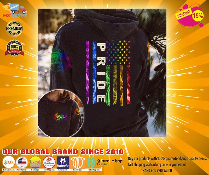 LGBT pride smoke vintage 3D hoodie2