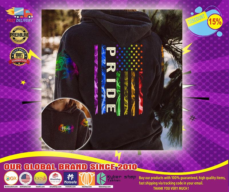 LGBT pride smoke vintage 3D hoodie1