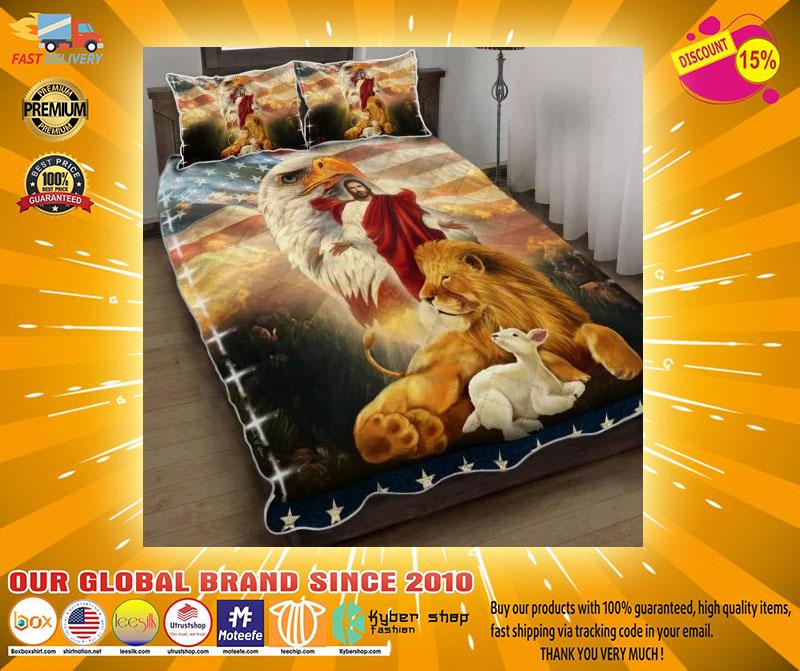 Lion and the lamb Jesus eagle bedding set22