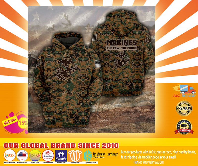 Marines camo forest the few the proud 3D hoodie4