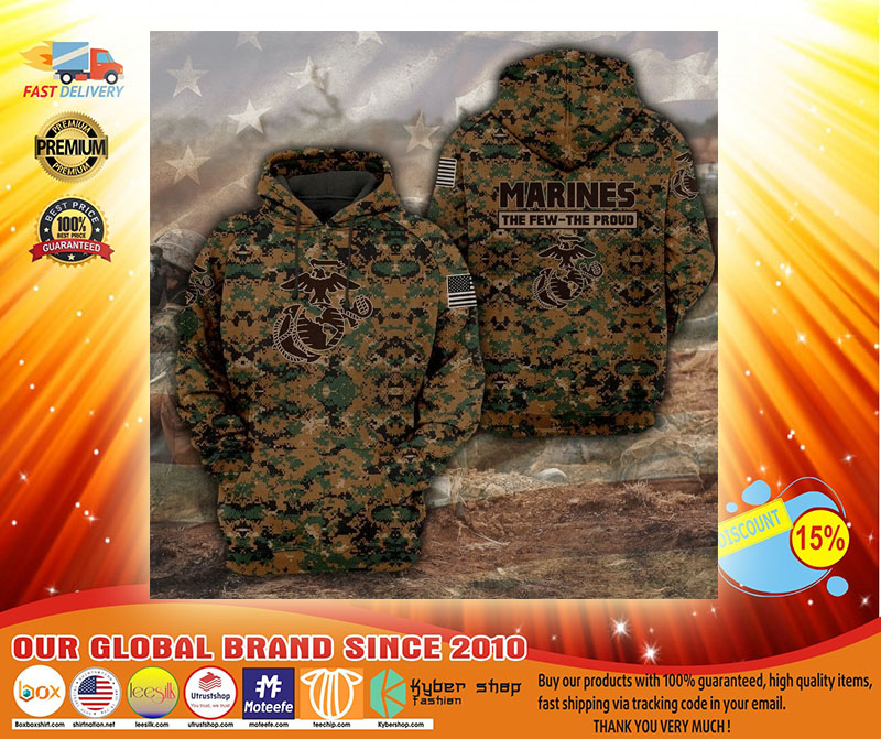 Marines the few the proud 3D hoodie3