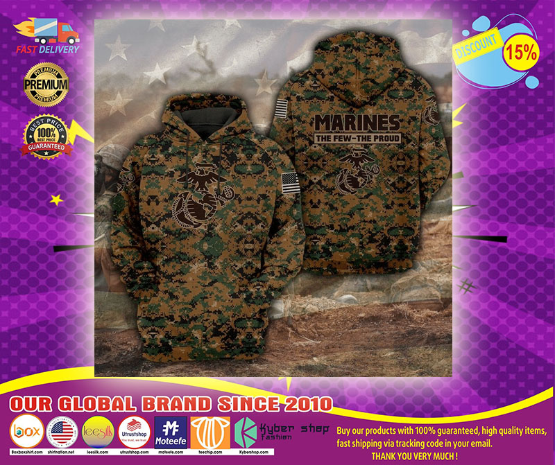 Marines the few the proud 3D hoodie1
