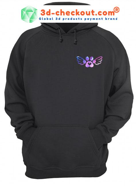 Mein schutzengel hat pfoten custom name 3D hoodie2