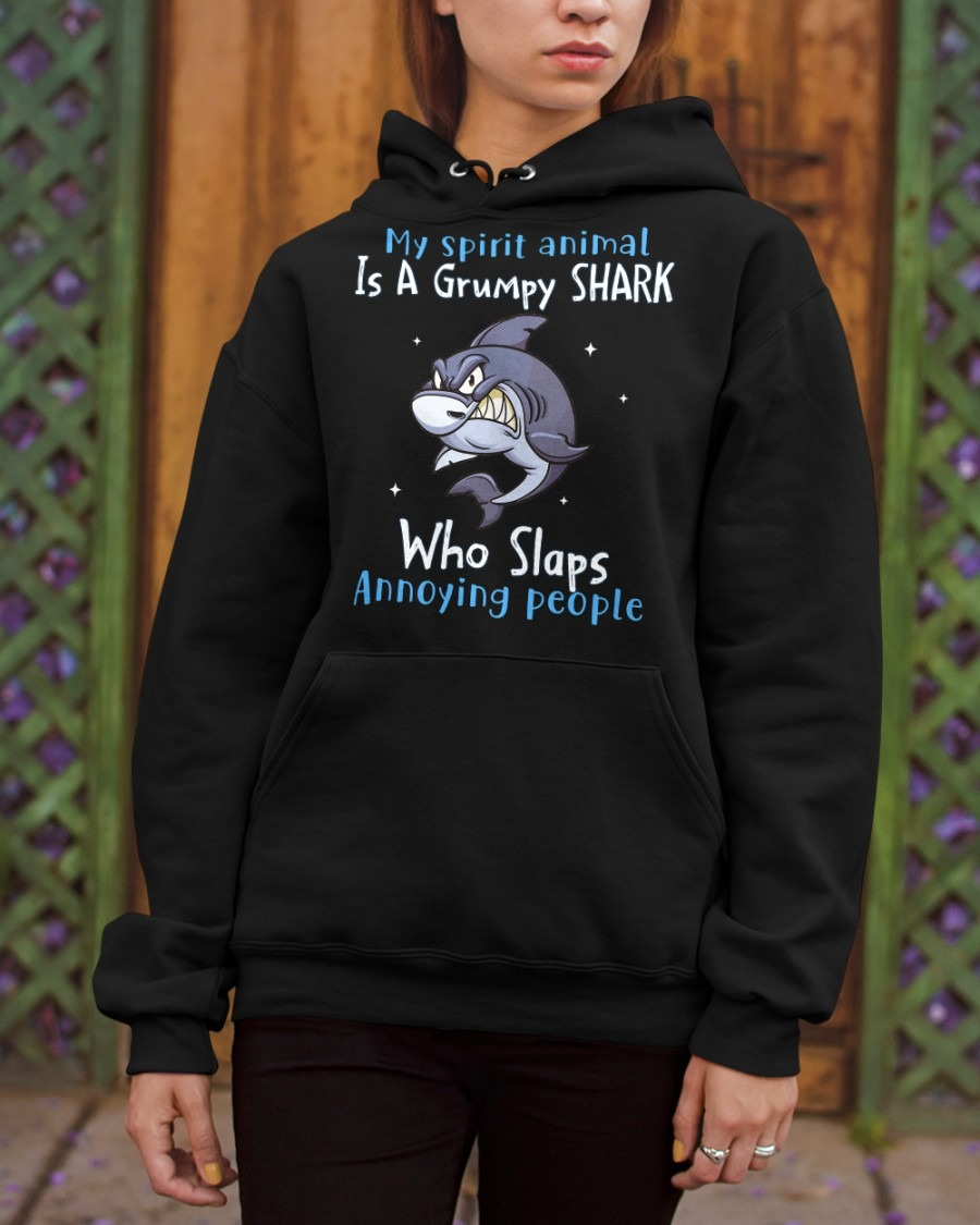 My spirit animal is a grumpy shart who slaps annoying people shirt hoodie