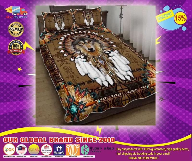Native American wolf spirit quilt bedding set21