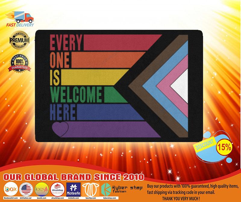 Rainbow LGBT Everyone is welcome here doormat3