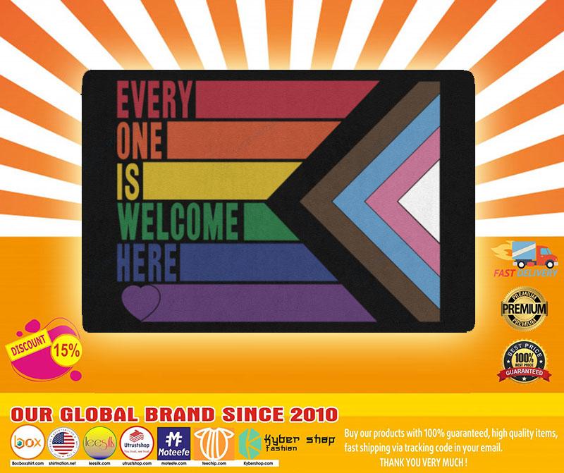 Rainbow LGBT Everyone is welcome here doormat4