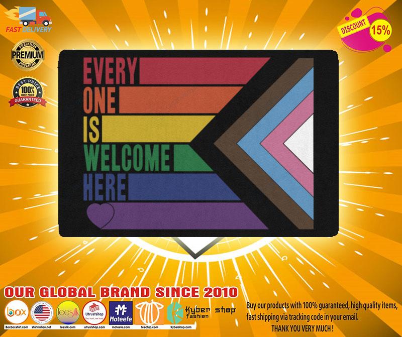 Rainbow LGBT Everyone is welcome here doormat2