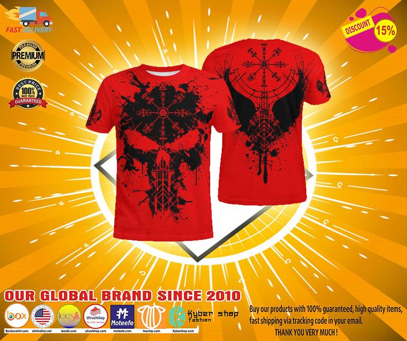 Raven vegvisir 3D T shirt4